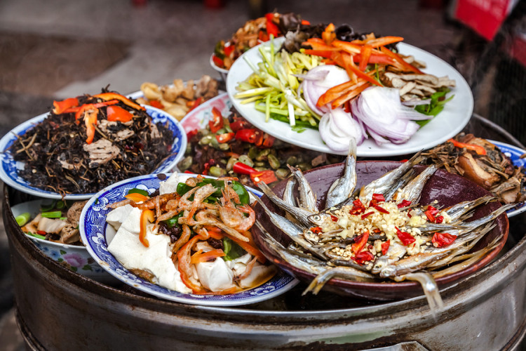 A variety of traditional Chinese dishes